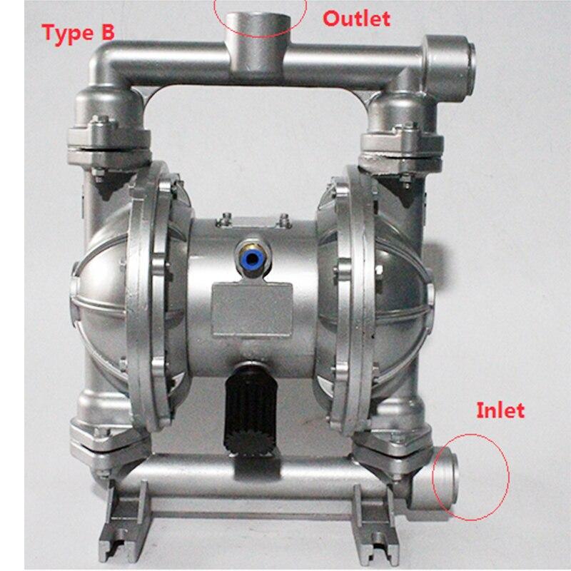 Diaphragm Pump  QBK-25 Max Flow rate 100L/min Air operated Pneumatic diaphragm pump  BSPT Thread