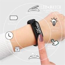 цена на Fashion Men Women Smartwatch Sports LED Digital Watch Luxury Touch Screen Silicone Strap Smart Band Watch Wristwatch Bracelet