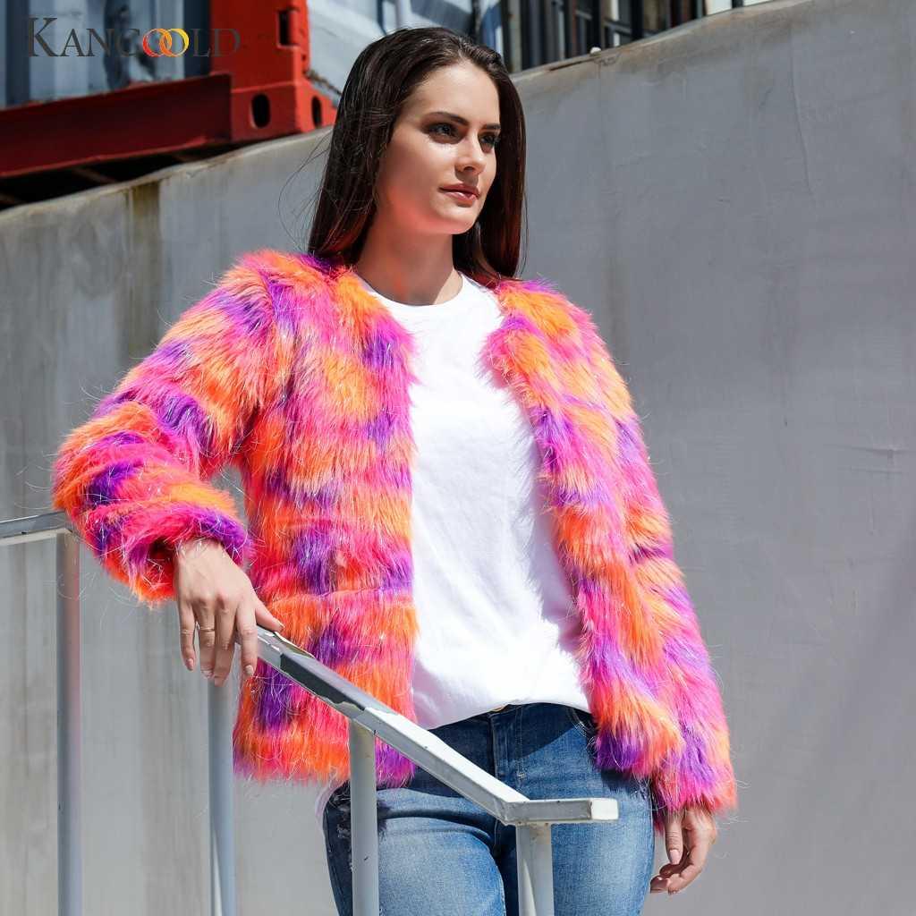 Kancohold пальто женские модные Boho из искусственного меха Верхняя одежда короткий кардиган свободные пуговицы карман Необычные накидки и куртки для женщин 2019AUG6