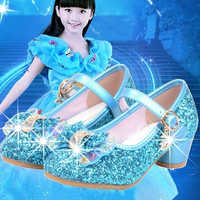 Enfants princesse chaussures pour filles sandales à talons hauts paillettes brillant strass Enfants Fille femme robe de soirée chaussures