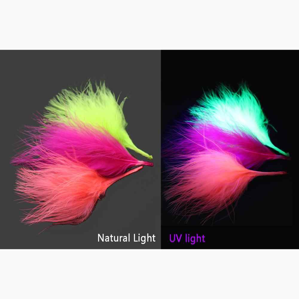 100 pcs Turkey Marabou Blood Feathers Woolly Bugger Streamers Fly Tying Material