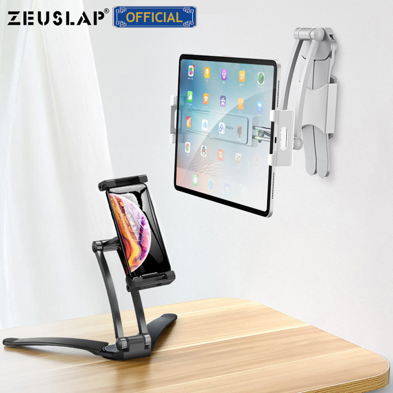 Desk Mount Holder Tablet Stand For IPad Pro 11 10.5 10.2 9.7 Mini Universal Phone Holder For Xiaomi Samsung Tablet
