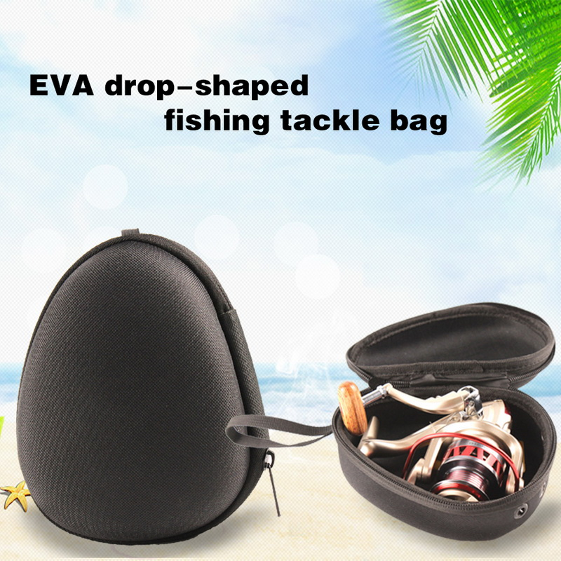 Portable Fishing Reel Tool Protective Bag EVA Drop-shaped Fishing Accessories Pouch Bag Soft Small Size Tools Storage Box