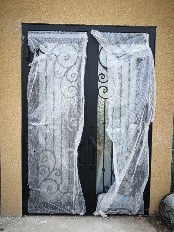 China Interior Position Iron Grill Window Door Designs Material Wrought Iron Door