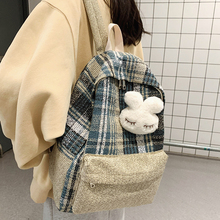 Student Female Linen Backpack Cute Women Fashion School Bag Harajuku Girl Kawaii