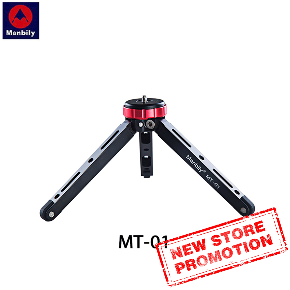 MT-01 Mini Tripod Desktop Live Video Bracket Low Angle Of View Shooting Can Carry 80KG For Mobile Phones And Digital SLR Cameras