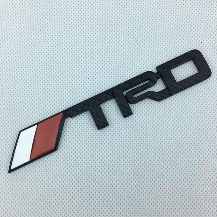 1X14. 3 סנטימטר * 2.2cm 3D מתכת TRD רכב קדמי אחורי סמל Trunk תג מדבקת לוגו רכב סטיילינג שחור אדום כסף רשת פחמן
