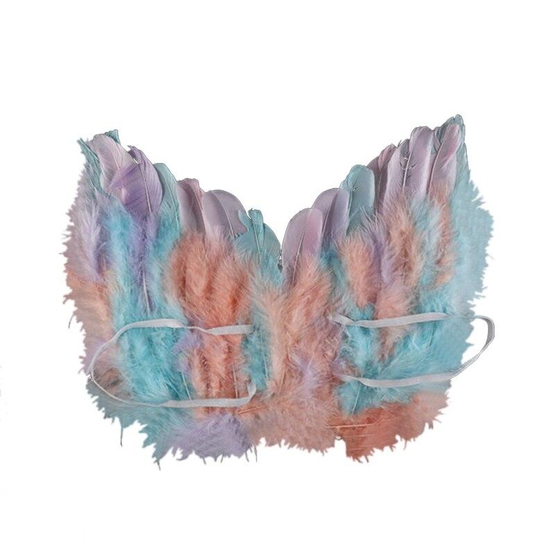 Красочные крылья, Хэллоуин, вечерние крылья, крылья ангела, лебедя, наряд феи, нарядное платье, костюм, одежда для мероприятий, аксессуары