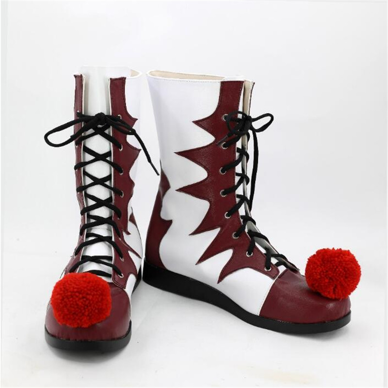 Cosplay Stephen King's It Pennywise Shoes Clown Pennywise The Clown Costume Mens Women Halloween Cosplay Costumes Boots Shoes