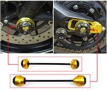 MT09 FZ 09 Front & Rear CNC Wheel Fork Slider Protector for 2013 2016 Yamaha MT FZ 09 MT 09 2014 2015