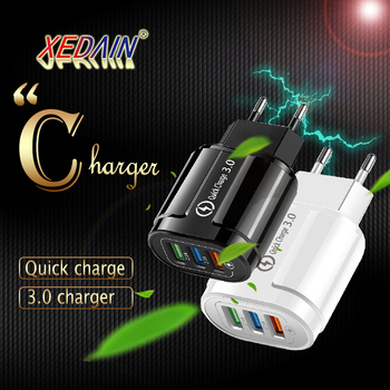QC 3.0 USB Charger Quick Charge 3.0 EU/US Fast Charge Multi Plug Wall Charger Adapter for iPhone X EU US Adapter Wall Charger image