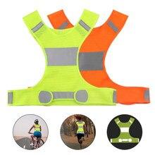 Reflexivo ciclismo colete ajustável cintura padrão bicicleta noite correndo jogging segurança colete de proteção para homens