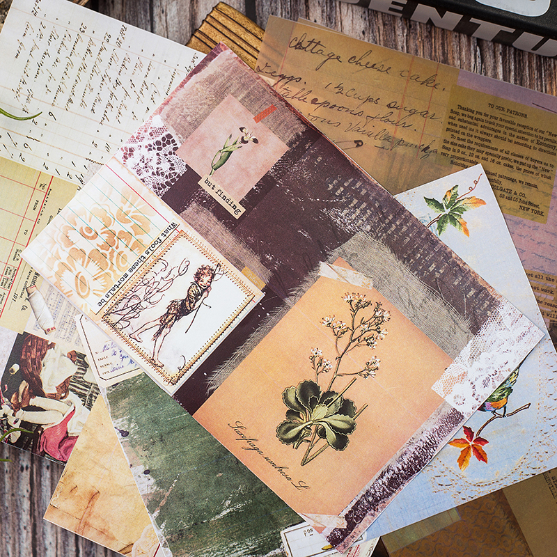 Vintage Pattern Vellum Paper For Scrap booking Happy Planner Card Making