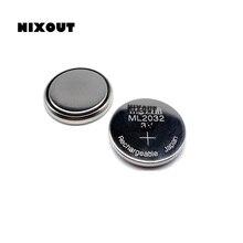 10 Uds ~ 50 uds/lote ML2032 3V batería de botón recargable producto Original