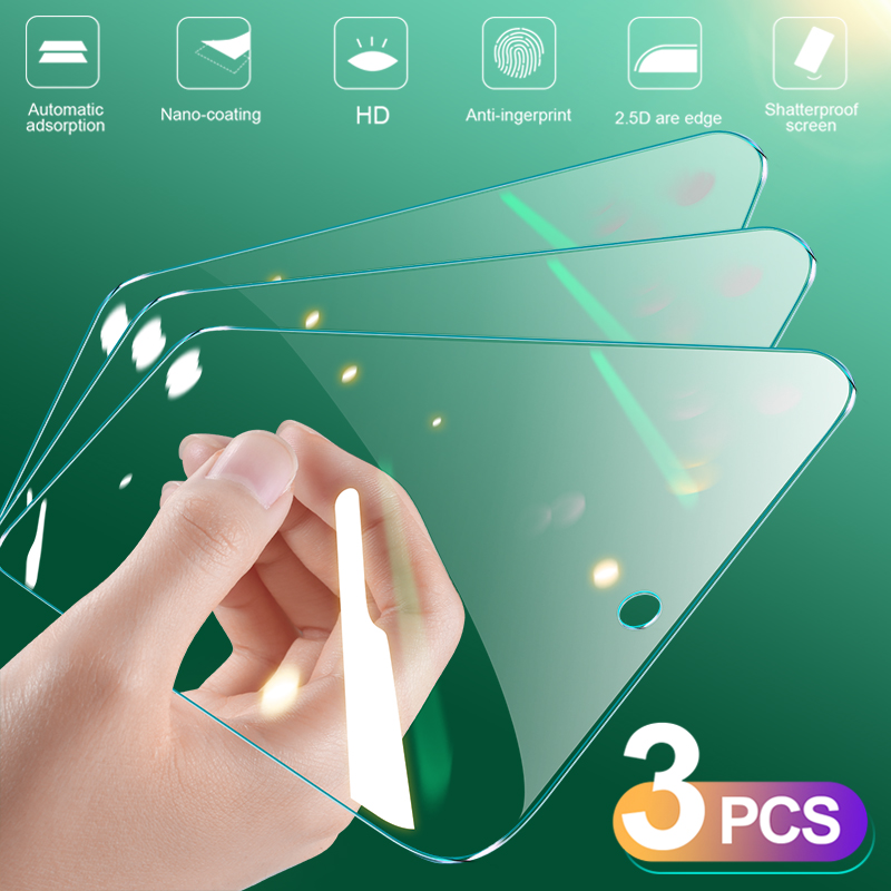 3Pcs Full Cover Tempered Glass On For Huawei P20 Pro P30 P40 Lite E Screen Protector Protective Glass For Huawei Mate 30 20 Lite