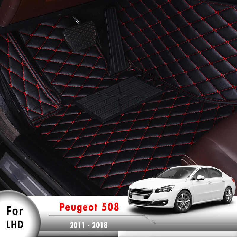 PEUGEOT 207 PINK TRIM EDGE CAR FLOOR MAT SET