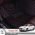 Автомобильный коврик для интерьера аксессуары для автомобиля-Стайлинг автомобильные коврики для Peugeot 508 2011 2012 2013 2014 2015 2016 2017 2018