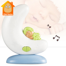 Baby Musical Night Light Lovely LED Music Moon Lamp Cartoon Infant Bed Bell Rattle Early Learning Educational Toys For Kids