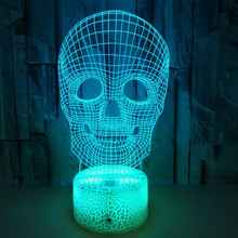 Halloween Decor Skull Night lamp 3D Night Light Led 7Color For Bar Friend Party Kids Toy Gifts Bedroom Decor New - DISCOUNT ITEM  30% OFF All Category