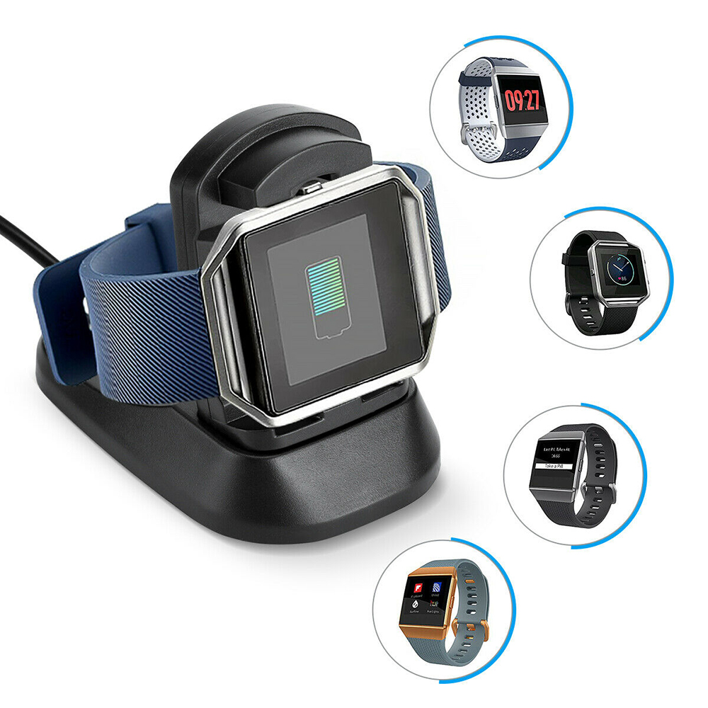 USB Charger Stand Mount Cradle Cable Dock Station Holder For Fitbit Ionic Smart Watch Wristband Replacement Smart Accessories
