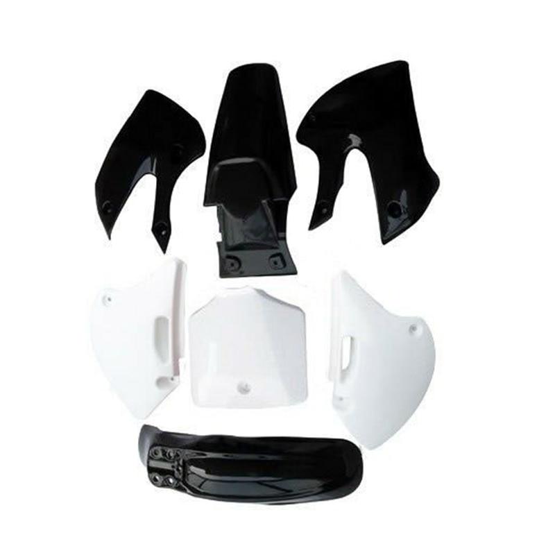 Черно-белый пластиковый комплект обтекателей крыла Для BBR KLX питбайка DRZ 110