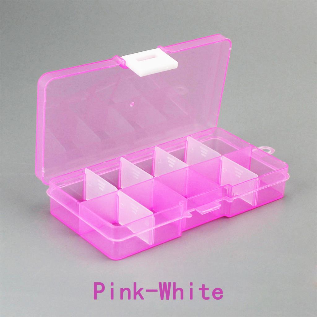 Прозрачный пластиковый органайзер для драгоценностей с 10 отделениями