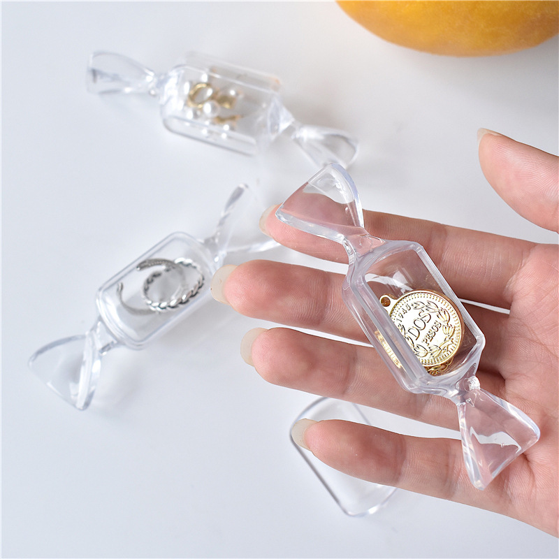 Mini Portable Transparent Candy Collection Box Necklace Ring Small Ear Ornaments Box To Give People Small Gift Box Wholesale