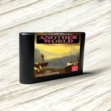 Outro mundo eur etiqueta flashkit md electroless ouro pcb cartão para sega genesis megadrive video game console