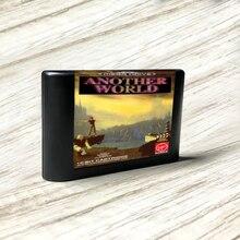 Sega Genesis Megadrive 비디오 게임 콘솔 용 Another World   EUR 라벨 플래시키트 MD 일렉트로리스 골드 PCB 카드