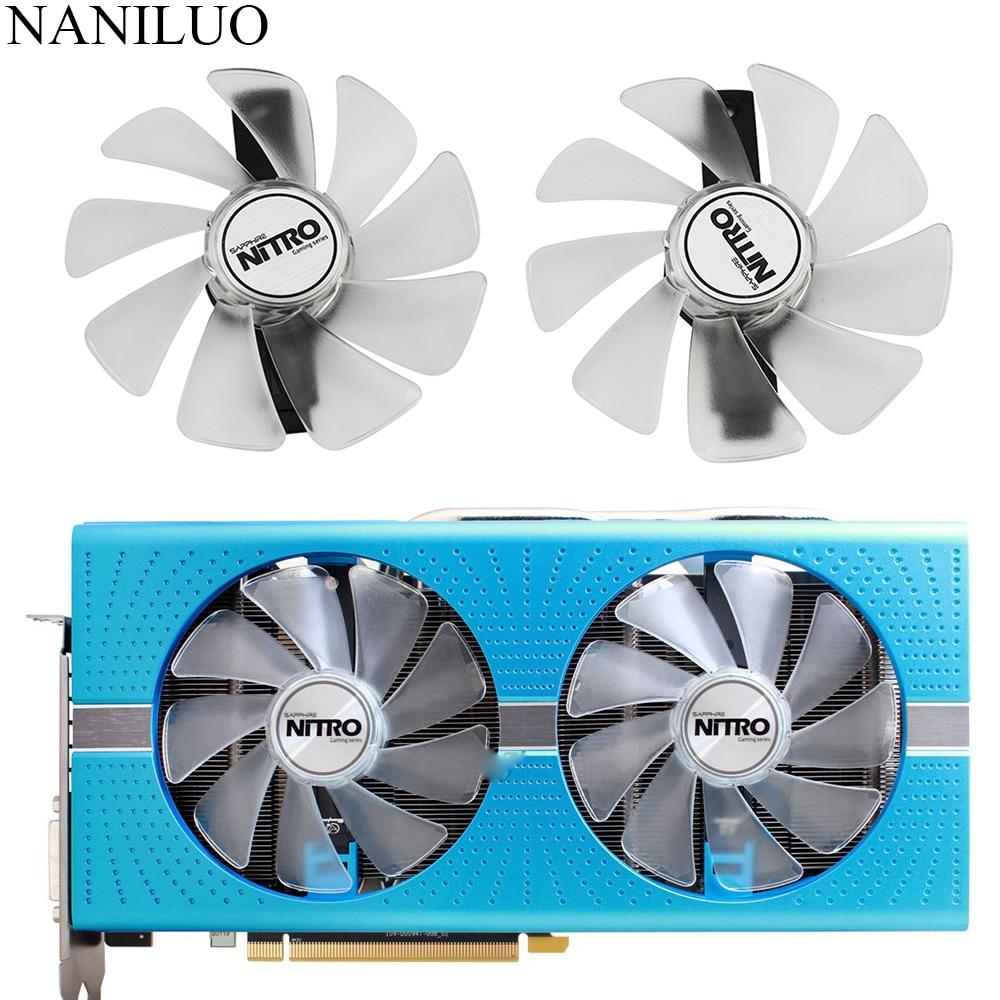 CF1015H12D FD10015M12D RX 590 580 480 470 570 GPU Fan Cooler Para Safira RX470 RX590 RX580 RX480 RX570 NITRO SpecialEdition Fã