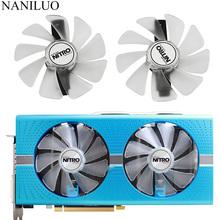 CF1015H12D FD10015M12D RX 590 580 480 470 570 GPU wentylator chłodnicy dla Sapphire RX470 RX590 RX580 RX480 RX570 NITRO SpecialEdition wentylator tanie tanio NANILUO CN (pochodzenie) Karta graficzna 3 6 W Dwa Łożyska Kulkowe 100000 godzin 3000 RPM 22dBA 28CFM 4 Linie 4PIN Z tworzywa sztucznego