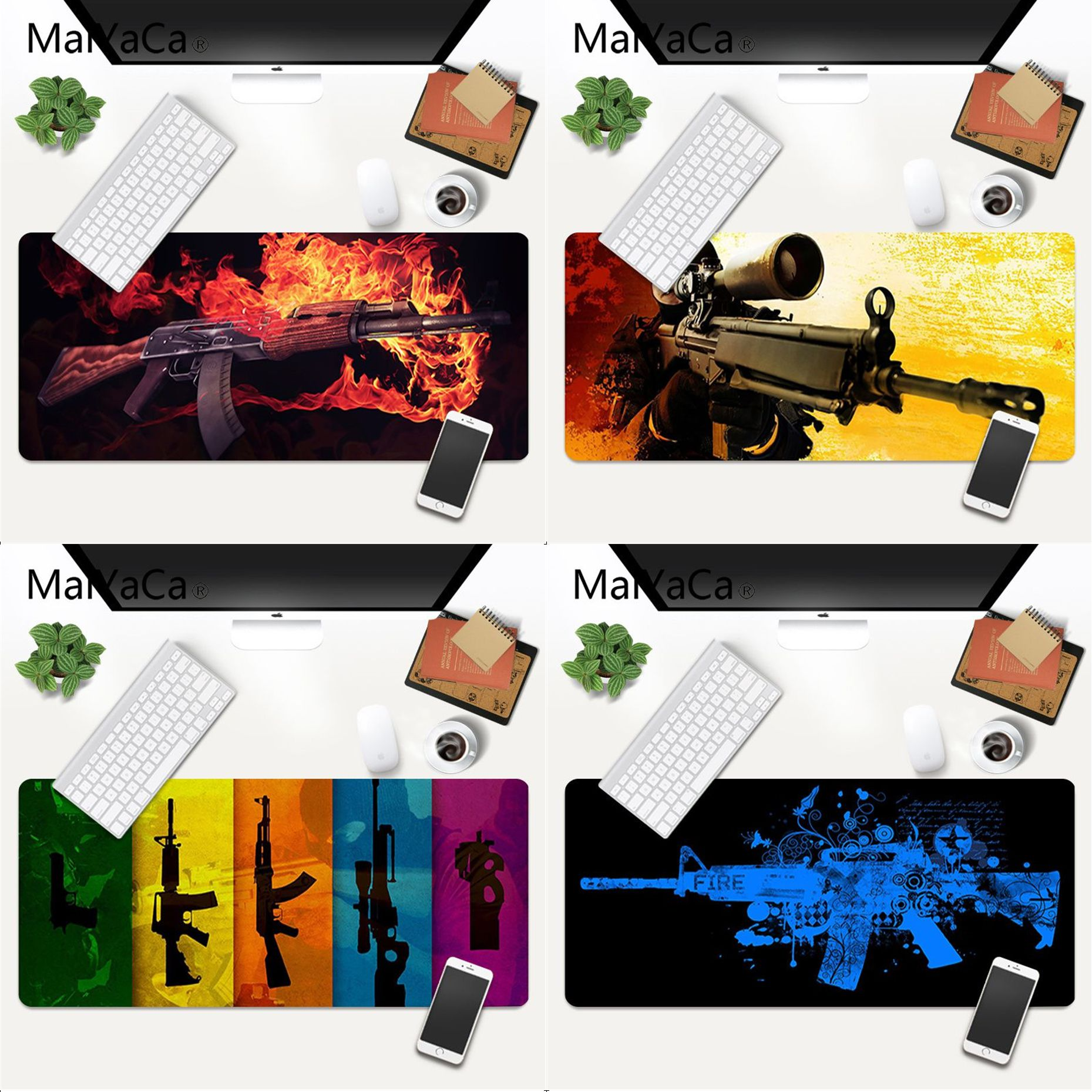 MaiYaCa Your Own Mats CS GO gun parts Laptop Gaming Mice Mousepad Gaming Mouse Pad Large Deak Mat 700x300mm for overwatch/cs go