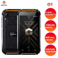GEOTEL G1 3G Smartphone 5 Android 7,0 2GB RAM 16GB ROM MTK6580A Quad Core 7500mAh Batería grande impermeable cargador de teléfono móvil