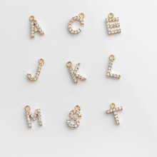 HIYONG Custom Letters Pendants Gold Silver Color A-Z Letter Pendant Shinning Zircon Crystal 26 Initial Collares