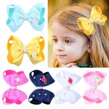 Big Bow Hair Clip for Girls Multi Color Bowknot Barrette Large Hairbows Children Hairgrips Accessories