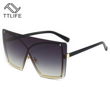TTLIFE Square Shield Sunglasses 2019 Summer Style Fashion Wo
