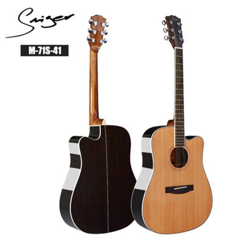 Guitare 40/41 pouces haute qualité guitare 6 cordes épicéa Rose acajou guitare haute brillance haut rigide GuitarAGT150