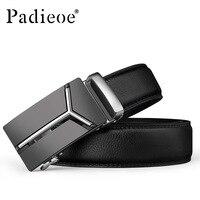Padieoe men belt leather long luxury fashion automatic belt retro