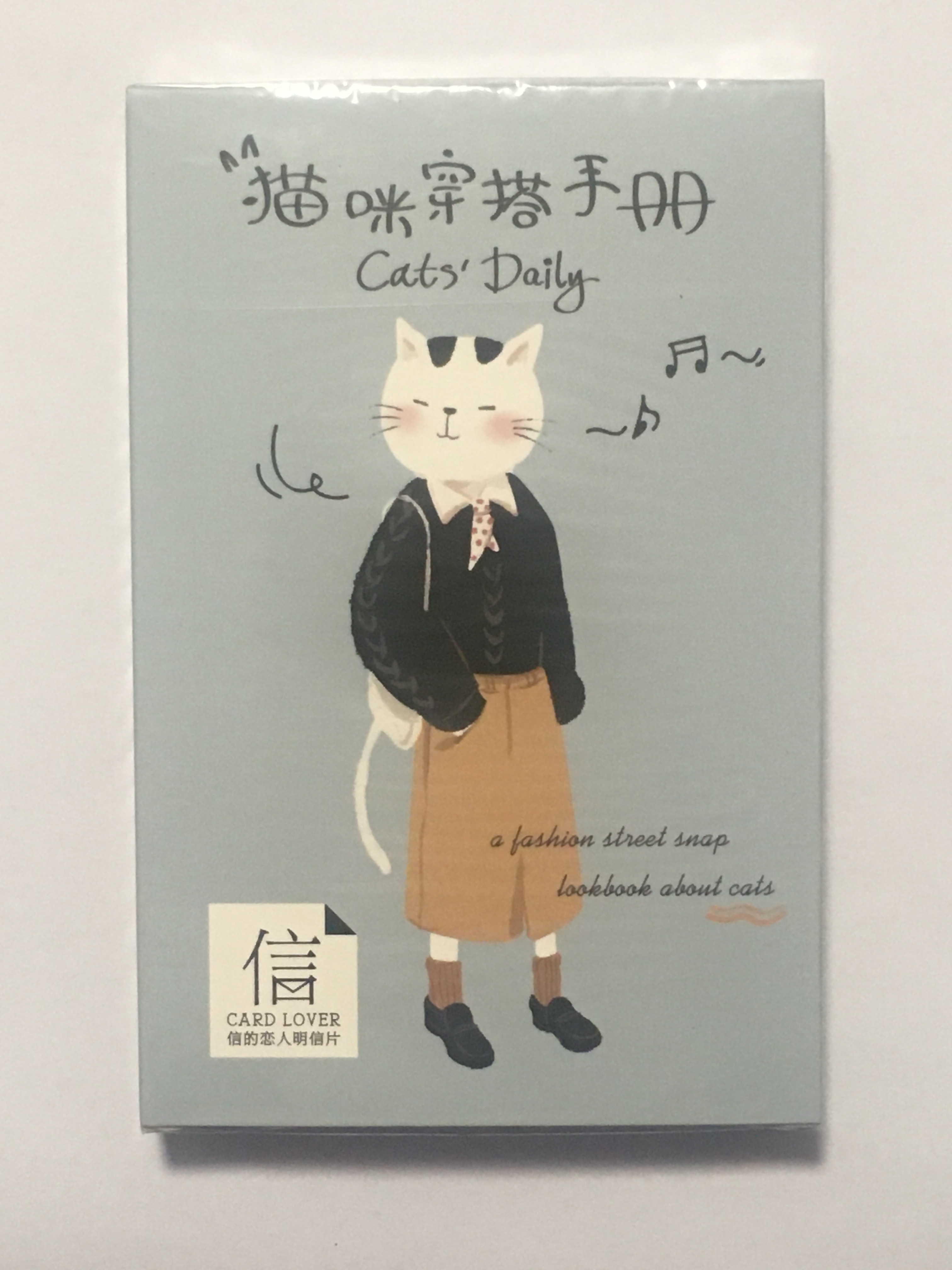 A27- Cat Wear Paper Postcard(1pack=30pieces)