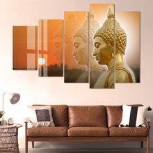 Будда аюттайя 5 панелей холст картины настенные художественные