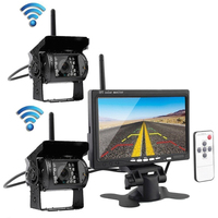 7inch 2.4G Rear View Reverse LCD Screen Night Vision Security Truck Car Monitor Wireless Multifunction Dual Camera Backup