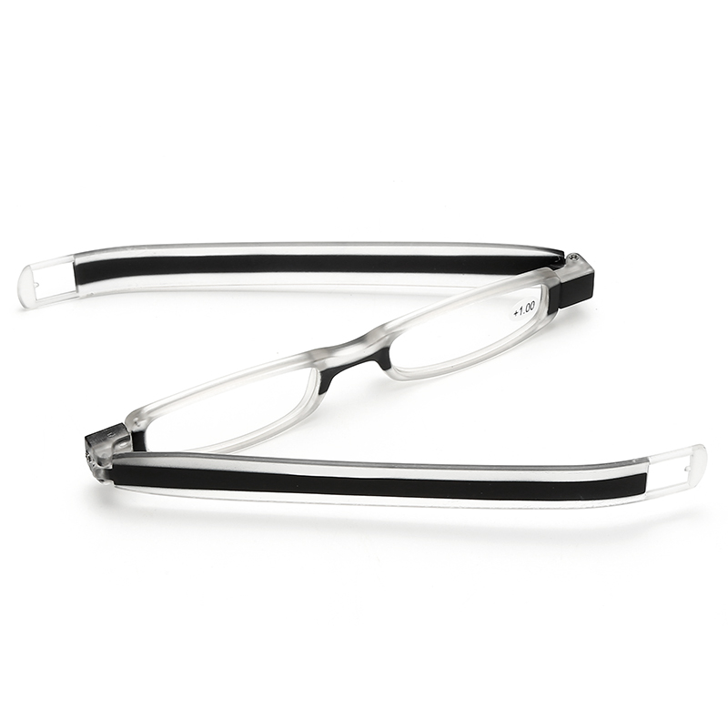 360 deg rotating Portable pen reading glasses with case Thin folding Presbyopia women men eyewear 1.0, 1.5 2.0 2.5 3.0, 3.5 4.0