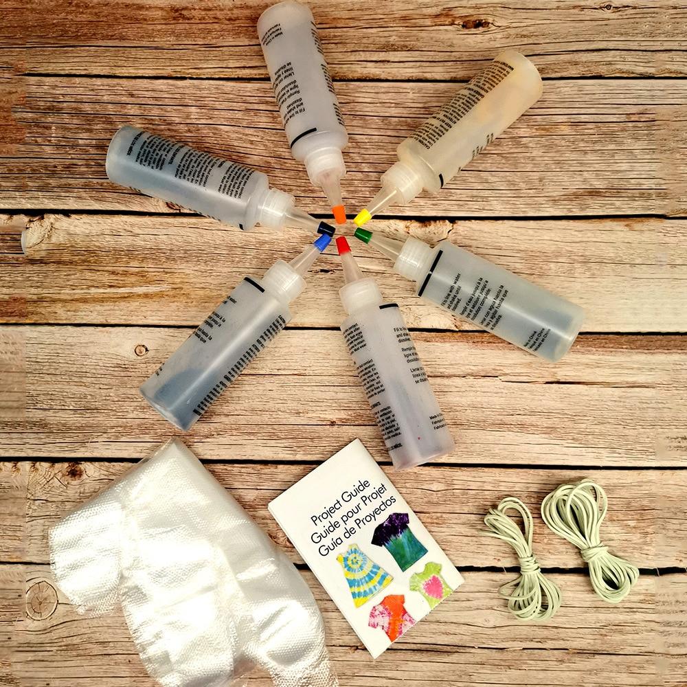 Fabric Textile Paints Colorful Tie Dying Sets Multicolor Dyes Paint Tie Dye Kit Pigment Set Decorating