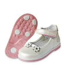 Прекрасный 1 пара Цветок кожаная обувь ортопедическая детская модная обувь, новая девушка тонкие туфли