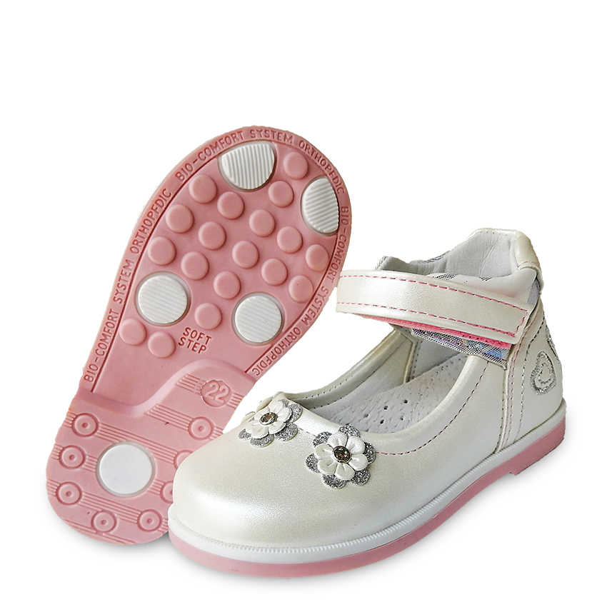 lovely 1pair Flower leather Shoes Orthopedic Children kids Fashion Shoes, New Girl single shoes
