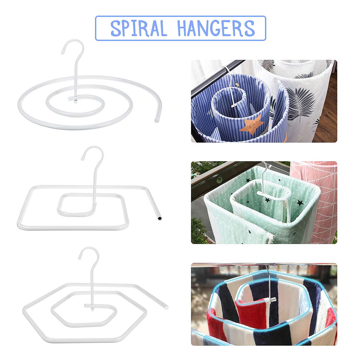 Spiral Hanger Drying Sheets Drying Quilt Circular Rotating Dryings Racks Quilt Balcony Multifunctional Shelf  Garment Rack