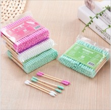 Yooap baby cotton swab Double Head Cotton Swab Women Makeup Buds Tip For Medical Wood Sticks Nose Ears Cleaning Tools