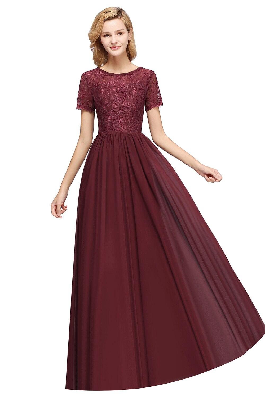Long Burgundy Purple Bridesmaid Dresses 2020 Chiffon Wedding Party Guest Gown For Women Sleeveless robe demoiselle d honneur
