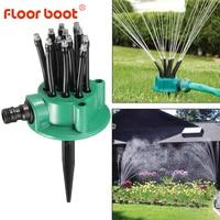 360 degree automatic multi-head sprinkler garden lawn sprinkler head garden yard irrigation system sprayer water saving tools