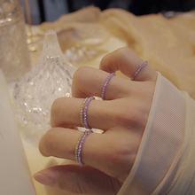 2020 Модные кольца с кристаллами из бисера милые минималистичные